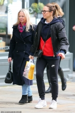 Mel C enjoys a relaxing shopping trip with mum Joan O'Neill in London...