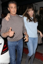 Sylvester Stallone enjoys a swanky night out in Beverly Hills with his wife