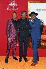 Samuel L. Jackson shares the spotlight with co-star Jessie T. Usher and original Shaft