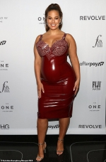 Pregnant Ashley Graham proudly displays her curves (and bump) in tight PVC
