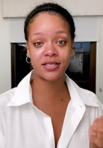Rihanna goes bare-faced as she shows her night skincare routine using only Fenty Skin products