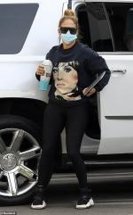 Jennifer Lopez steps out in designer sweatshirt and leggings in Beverly Hills