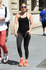 Jennifer Lopez shows off her toned physique in tight sportswear in NYC...