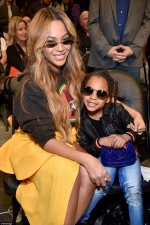 Beyonce's mini-me daughter Blue Ivy, six, steals the spotlight as the pair snap selfies at NBA All-Star