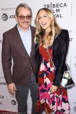 Sarah Jessica Parker is pretty in patterns