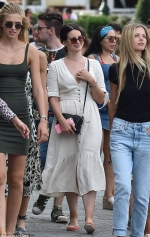 Lana Del Rey showcases her chic sense of style in a breezy summer