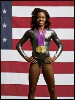 Gabby Douglas talks about being first-ever winner of The Masked Dancer and details her frightening 10-foot