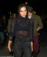 Victoria Beckham stuns in chic mesh top as she joins son Brooklyn