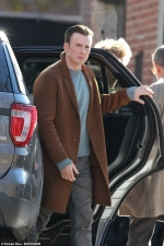 Chris Evans and Daniel Craig look dapper as they are spotted for first time on the set