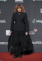 Janet Jackson looks stylish as she unveils her new short hairdo at Mnet Asian Music Awards in Hong Kong...