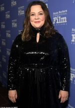 Melissa McCarthy dazzles in black as she is presented with award by Richard E. Grant at Santa Barbara