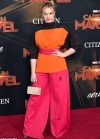 Iskra Lawrence catches the eye in bold colour block co-ords as she attends