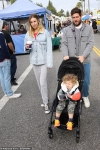 The Hills star Whitney Port dotes on son Sonny during Sunday family trip