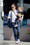 Natalie Portman heads to a bakery with daughter Amalia after being