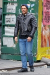 James Franco born to be wild as he dons leather jacket and jeans while