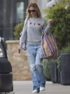 Julia Roberts cuts a casual figure in sweatshirt and denim for Malibu shopping trip