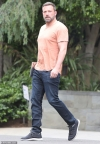 Ben Affleck shows off his brawny physique while leaving the gym