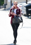Ashlee Simpson leaves LA gym looking flushed after grueling workout