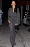 Nicole Scherzinger takes the plunge in sheer polka dot jumpsuit as she enjoys