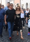 Sylvester Stallone's daughter Sophia, 23, looks glamorous in a floral midi
