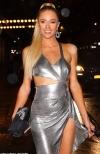 Paris Hilton suffers wardrobe malfunction while donning metallic