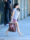 Ariel Winter shows off her toned legs in a pair of tiny shorts as she enjoys
