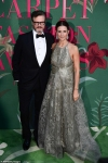 Colin Firth's wife Livia dazzles in a silver sequined gown as the couple