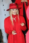 Rita Ora looks ravishing in red as she steps out in bold outfit to promote