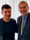 EU Commissioner Hahn offers full support to Ukraine's President-elect Zelensky