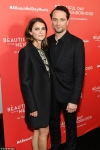 Keri Russell and Matthew Rhys step out in black at a New York