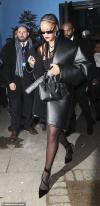 British Fashion Awards 2019: Rihanna wraps up in oversized leather coat and slinky LBD