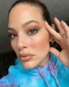 Ashley Graham reveals she's putting on 'full glam' make-up for her online business meetings...