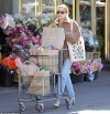 Emma Roberts loads up with groceries in Hollywood looking stylish