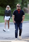 James Corden and wife Julia Carey enjoy a stroll in the Pacific Palisadesas