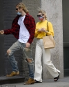Elsa Hosk is stylish in Christian Dior as she picks up a to-go order in NYC with beau Tom Daly...