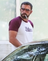 Ben Affleck, 47, appears to have dyed his hair and beard a darker shade as he's spotted out in LA