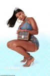 Megan Thee Stallion poses in micro denim outfit in new campaign for Coach...