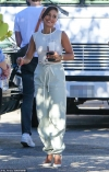 Vanessa Hudgens looks flawless as she gets 'back to work' in a stylish