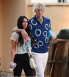 Megan Fox cozies up to beau Machine Gun Kelly as the pair hit up the Mayan Theater
