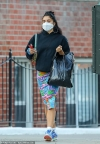 Madonna's daughter Lourdes Leon is seen shopping in New York's SoHo district wearing a colorful skirt