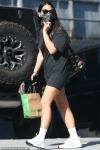 Olivia Munn rocks ultra-casual T-shirt dress as she picks up supplies for her