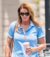 Caitlyn Jenner dresses down in a blue polo to grab a smoothie in LA after