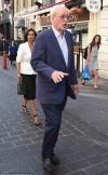 Sir Michael Caine jokes about introducing Mia Farrow