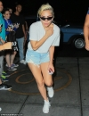 Leggy Lady Gaga wears TINY denim shorts as she runs back to apartment after watching DNC