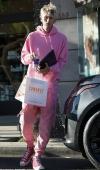 Machine Gun Kelly serves Pepto Bismol vibes in head-to-toe pink
