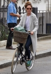 Trinny Woodall arrives at Chelsea pad she shares with boyfriend Charles Saatchi