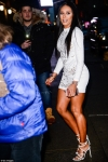 Mel B flaunts her incredible curves in a micro-mini dress as she steps out in NYC...