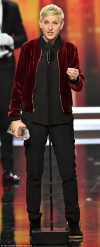 Ellen DeGeneres makes history with her 20th People's Choice Award as she's supported