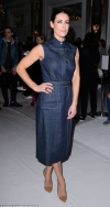 Kirsty Gallacher stuns in chic denim dress as she joins Emmerdale's Natalie