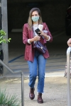 Jessica Alba totes $3,550 Celine bag to a meeting at her Honest Company